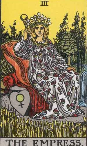 Is the 3 or the Empress your Yearly Tarot Number? Find out what that means!