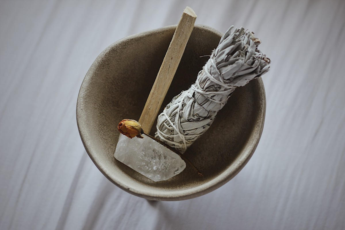 Crystals and Smudging Supplies